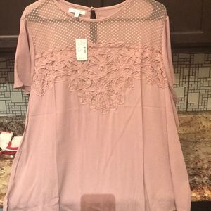 NWT MAURICES mauve color dress blouse
